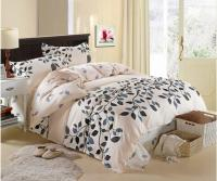 Cream Grey Blue Queen Size Cotton Bedding Sets Duvet Cover ...