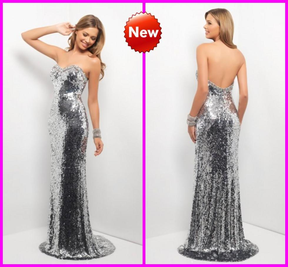 Sweetheart Silver Sequined Bling Bling Pageant Dresses ...