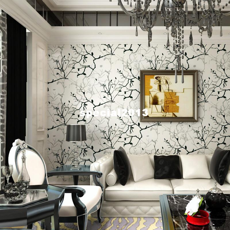 Wallpaper Living Room Tv Wall Background Wall Black And