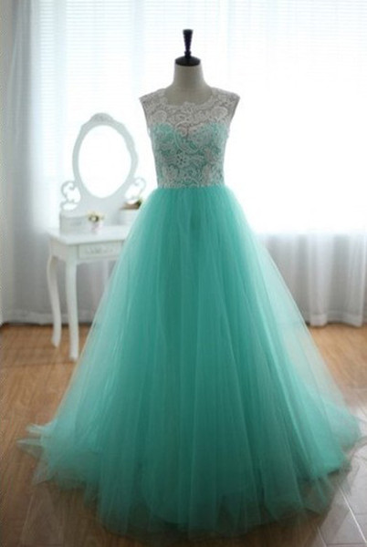2013 Lace Tulle Turquoise Wedding Dresses Sleeveless Sweetheart