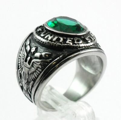 Man Custom Rings Steel Military Ring ARMY Stainless Steel