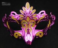 New Design Peacock Mask Colorful Drawing Gold Plating ...