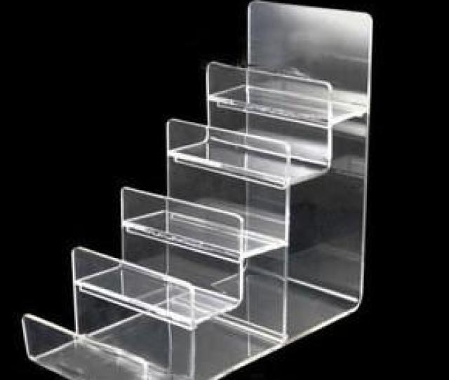 Clear Black Multi Layer Acrylic Shelf Wallet Purse Display Stand Mobile Phone Shell Rack Handbag Holder