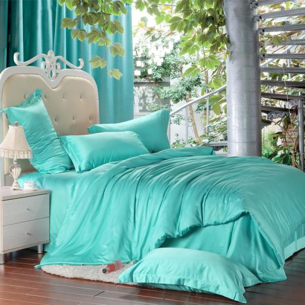 Luxury Solid Turquoise Blue Green Comforters Bedding Set King Size Queen Duvet Cover Quilt Bed