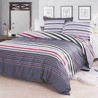 Hot Sale ! Red Grey Striped Designer Cotton Fabric Duvet ...