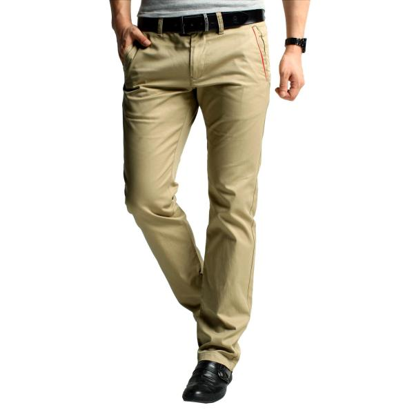 2017 Kuegou Khaki Pants Men Tide Autumn Men' Business