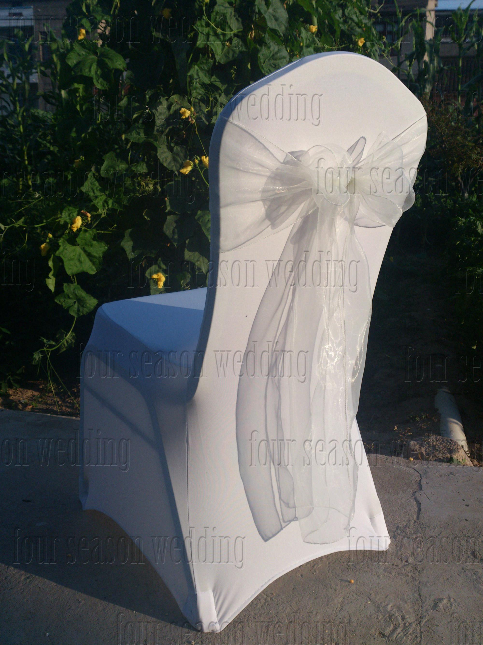 white chair sashes traditional chinese wholesale spandex covers 43white organza