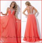Long Coral Prom Dresses