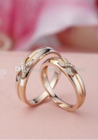2017 18k Rose Gold Diamond Couple Promise Rings Certificed ...