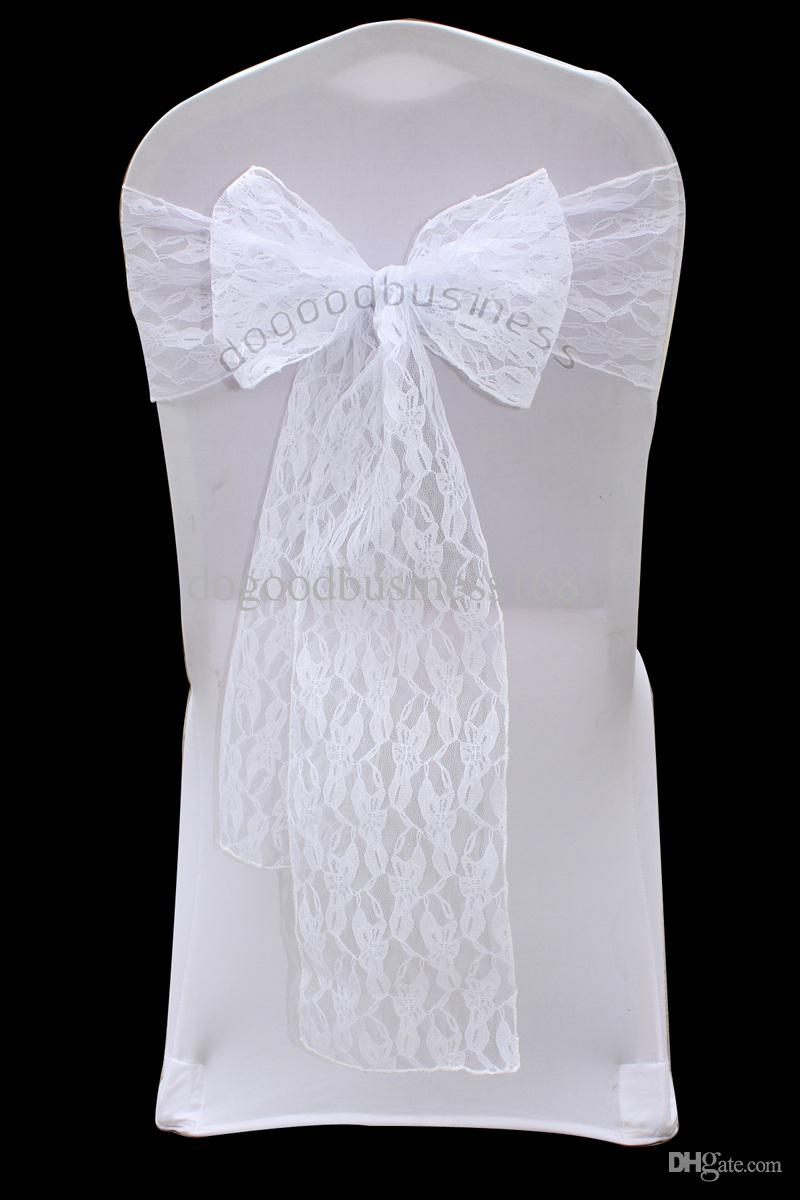 Top Quality White Lace Chair Sash For Wedding Event Party