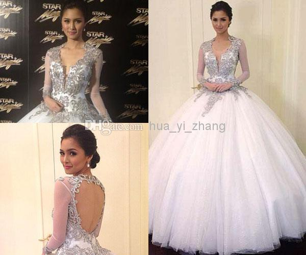 Kim Chiu At Star Magic Ball 2013 With Deep V Backless Ball