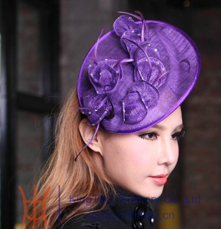 Online Cheap Women Fashion Sinamay Fascinator Fashion