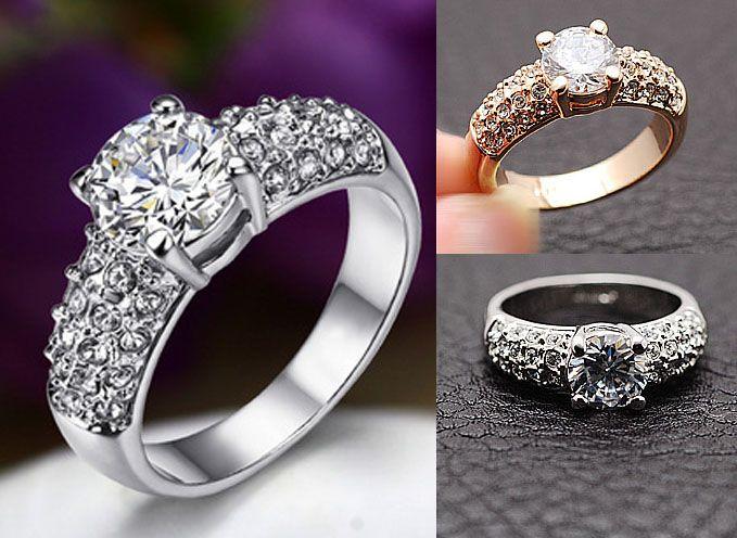 2017 Wedding Rings For Women Jewelry Swarovski Crystal