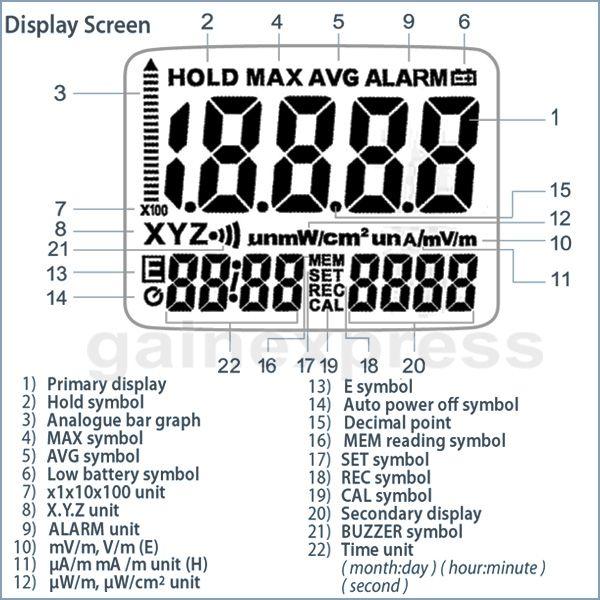2019 T95 Portable Handheld Digital 3 AXIS EMF RF Radiation