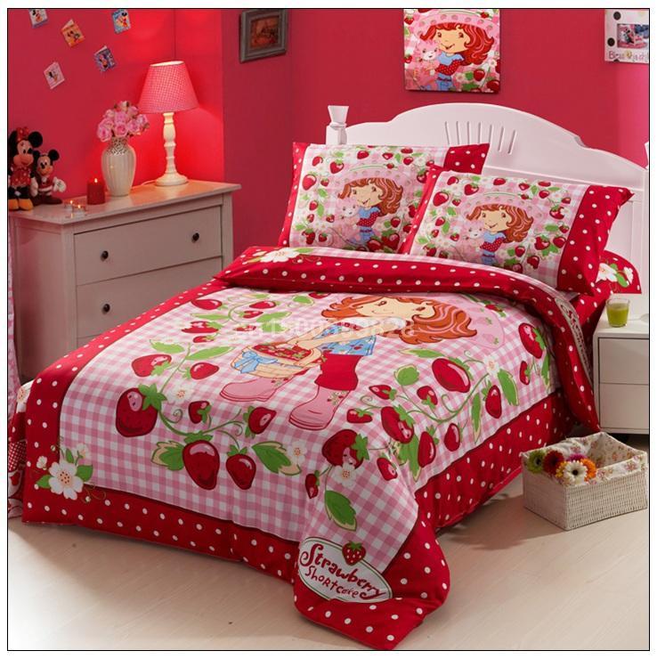 Strawberry Shortcake,100 Cotton Printing Bedding,Baby Kid