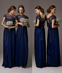 Maternity Bridesmaid Dress 2014 Elegant Cheap Navy Blue ...