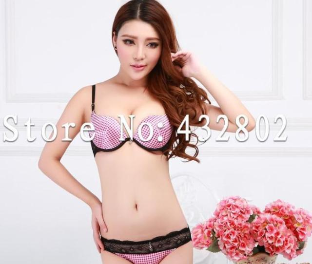 Scottish Style Womens Underwear Setstereotypes Sexy Lace Bra Setssweet And Cute College Girl Plaid Push Up Bra Set Canada  From Kepiwell