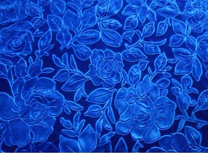 Acheter Bleu Royal Rose Motif Velours Canap Couverture