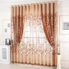 Living Room Window Valances Picture Wall Modern Fashion High Quality Curtains Finished For Bedding Luxury Tulle Beads Hotel Purple Brown Curtain Voile