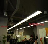 Linear Suspended Fluorescent Light Fixture with a Recessed ...