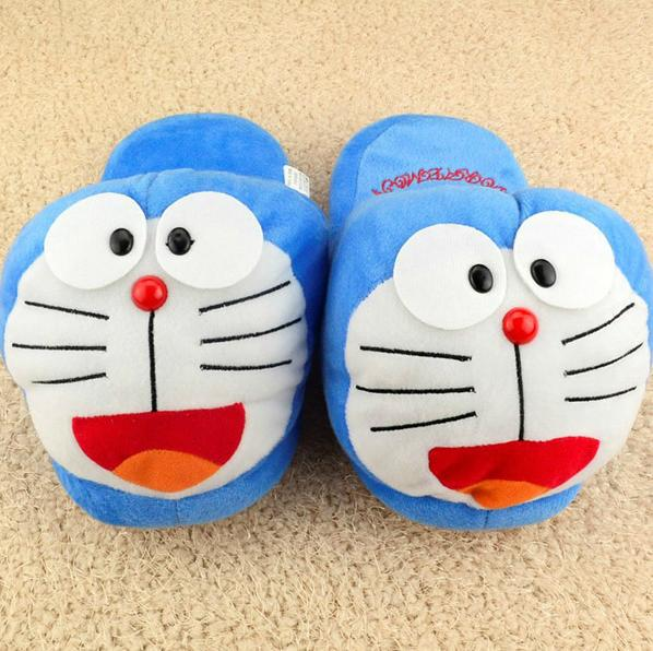 doraemon plush slipper/shoes cartoon winter slippers indoor