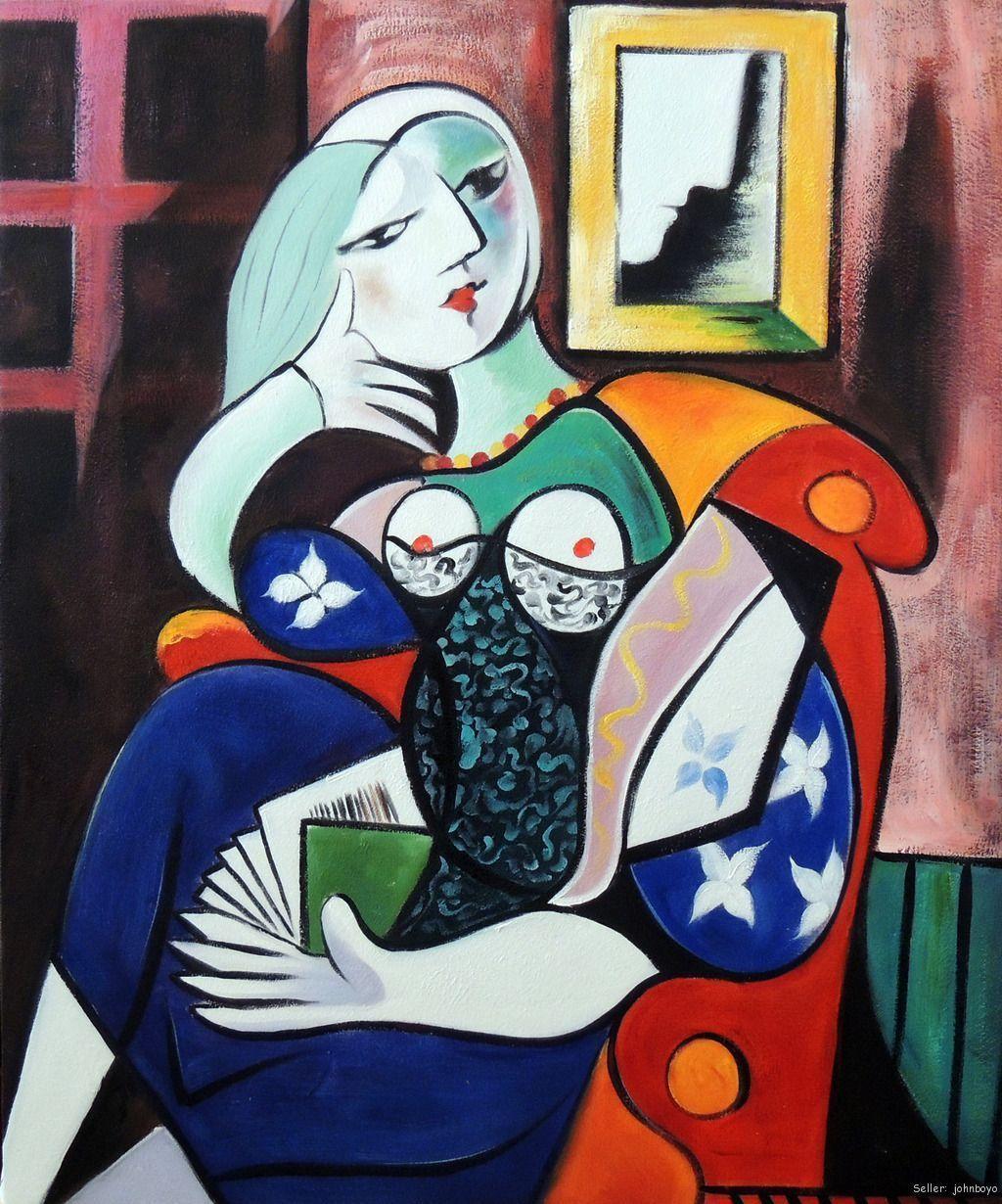 Pablo Picasso. Mujer con libro. 1932
