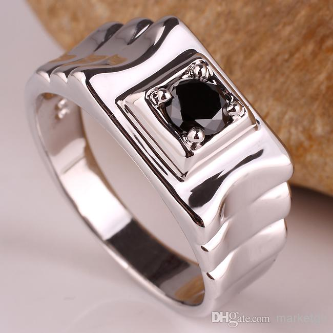 2018 Unique Design Black Onyx Men 925 Sterling Silver Ring