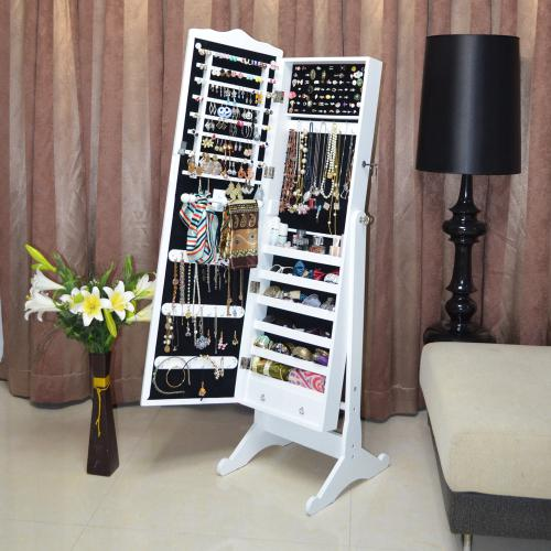 full length mirror in living room small wood jewelry box armoire cabinet storage organizer with furniture stock