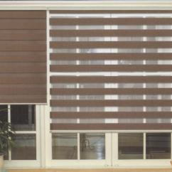 Blinds For Living Room With Curtains Broyhill Sets Translucent Roller Zebra In Dark Brown Cheap White Blackout Best Blind Man