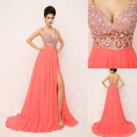 Ssj 2015 New Charming Prom Dresses With Spaghetti Crystals ...