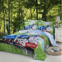 Train Thomas Kids Boys Cartoon Comforter Bedding Set ...