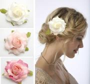 10px bridal hair flower rose
