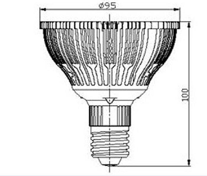 21W E27 LED Light Par30 LED Lamp Bulbs Par 30 SpotLight