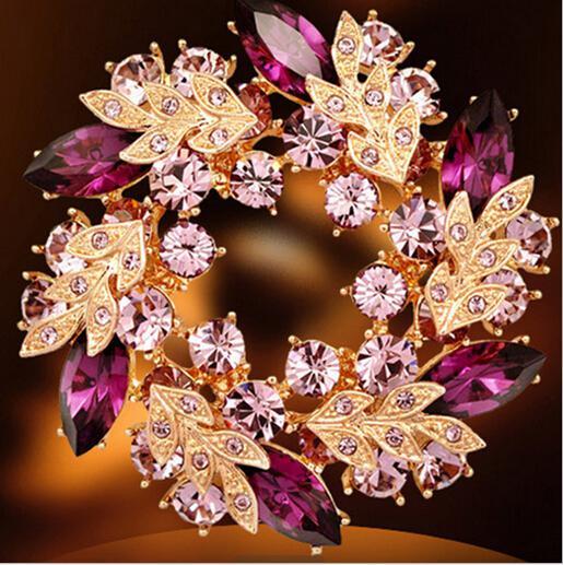 Online Cheap Wedding Gemstone Brooch Rhinestone Crystal