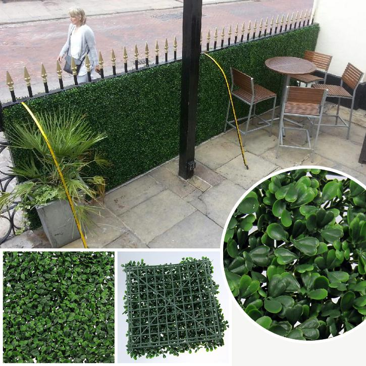 Artificial Privacy Fence Fake Hedges 50X50cm Outdoor Artificial Plant Foliage For House Wedding