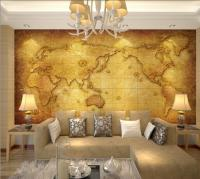 Luxury Embossed Mural Photo World Map Wallpaper Tv Sofa ...