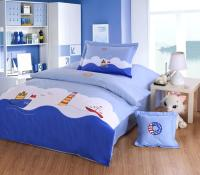 Ocean Style Boys Kids Bedding Set Embroidery Sailing Boat ...