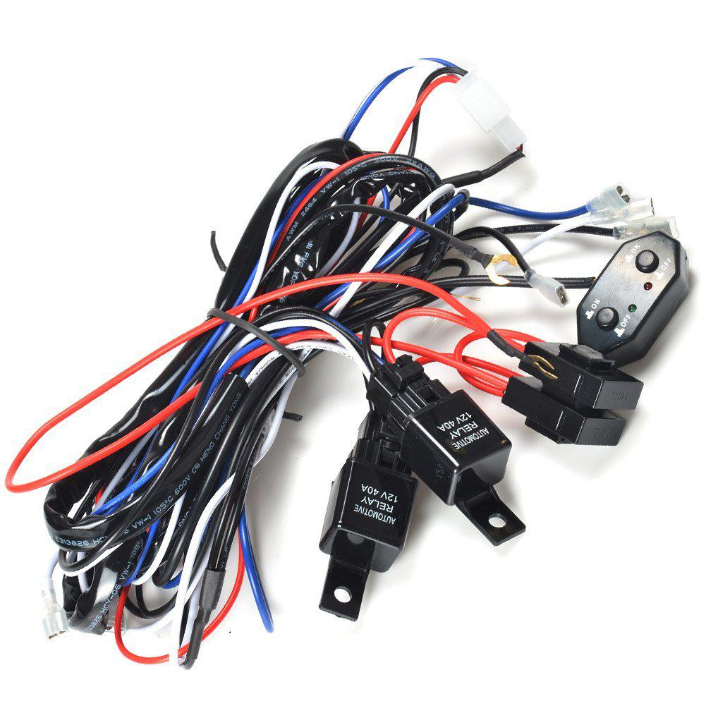 hight resolution of kawell cm ws12d 2 legs wiring harness of double color light bar kawell cm