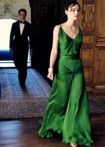 Acquista Vintage Spalline Keira Knightley Backless Verde Abito Da ...