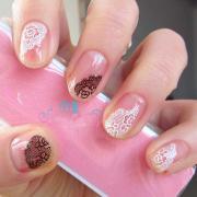 sheets floral design 3d nail