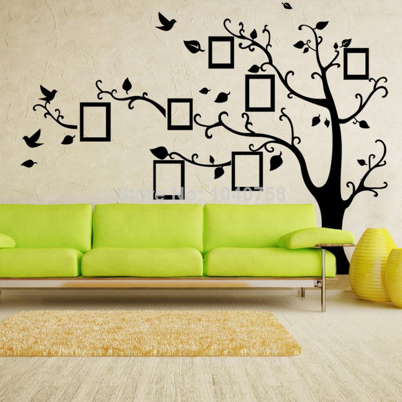 x large photo frame family tree wall decal tree wall sticker
