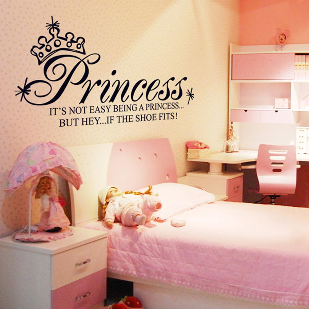 Princess Crown Letter Removable Wall Stickers Art Decals Mural Diy
