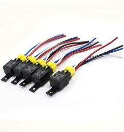 2019 car auto truck spst 4 pin relay plastic socket harness wire 40a 2019 car auto [ 1100 x 1100 Pixel ]
