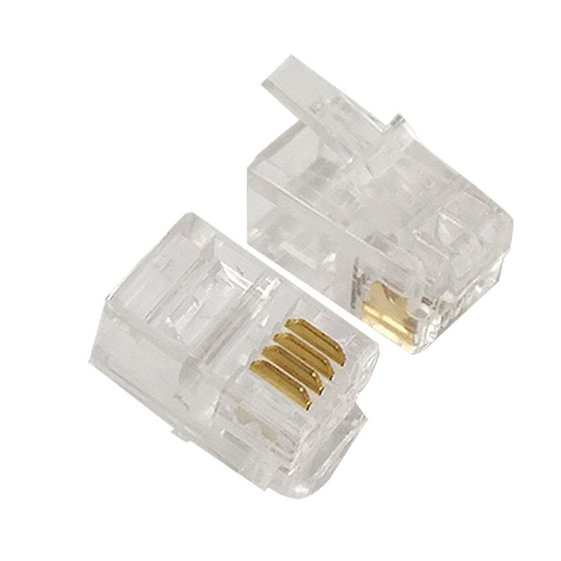 hight resolution of 4 pin rj10 4p4c connector plug for handset cable nvbcu patch cables pc cables and connectors