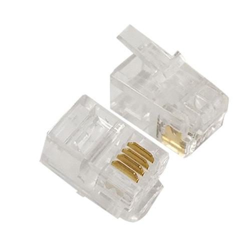 small resolution of 4 pin rj10 4p4c connector plug for handset cable nvbcu patch cables pc cables and connectors