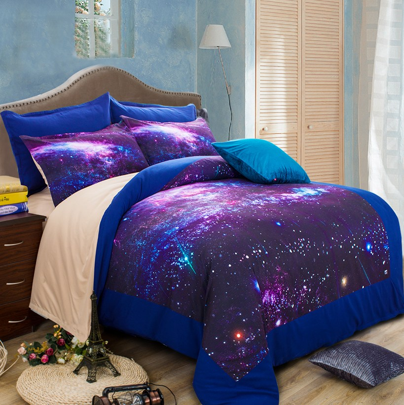 Colour Stars Hipster Galaxy 3d Bedding Sets Universe Outer