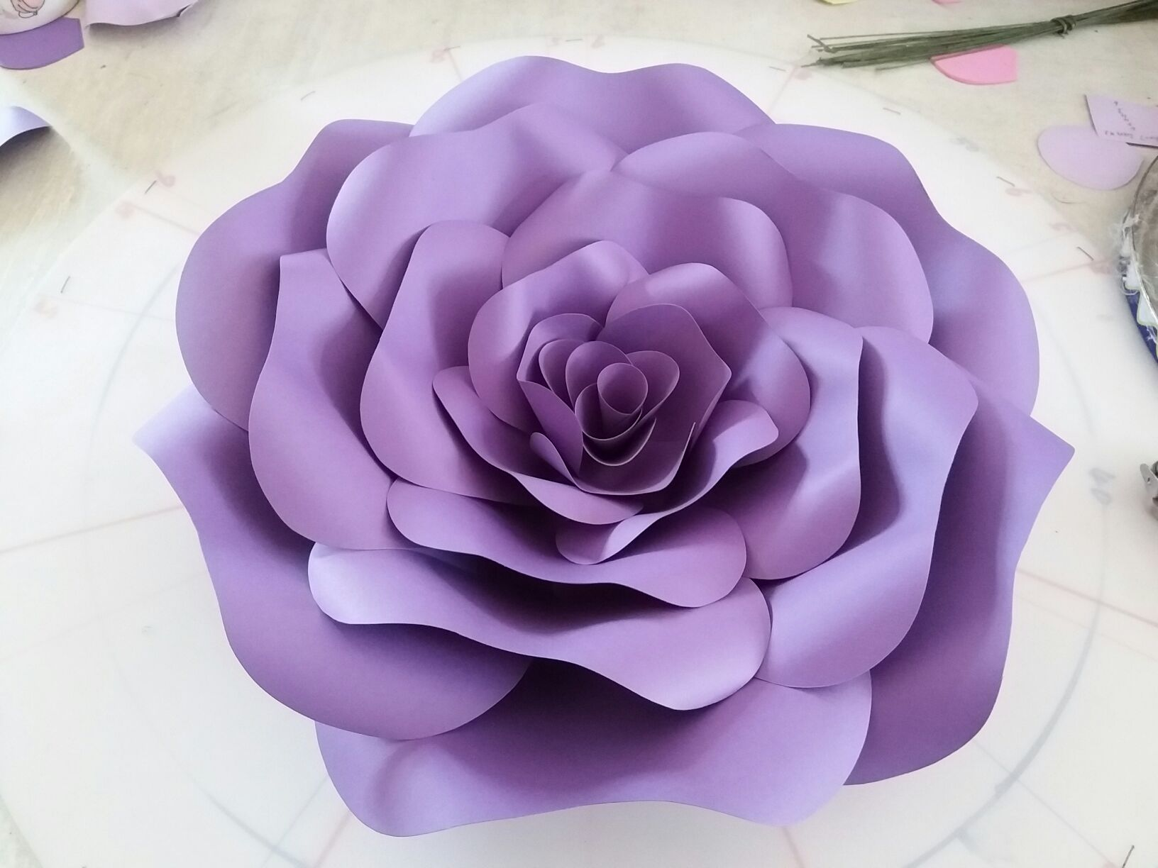 Set Large Simulation Cardboard Paper Rose Flowers
