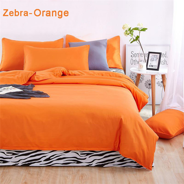 Bedding Set Queen Custom Size Solid Color Duvet Covers Bed
