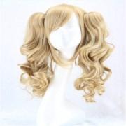 long lolita wig ponytail heat resistant
