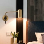 2020 Modern Wall Light All Copper Nordic Lamp Bedroom Bedside Wall Light Luxury Personality Living Room Long Arm Wall Sconces From Allen668 111 86 Dhgate Com